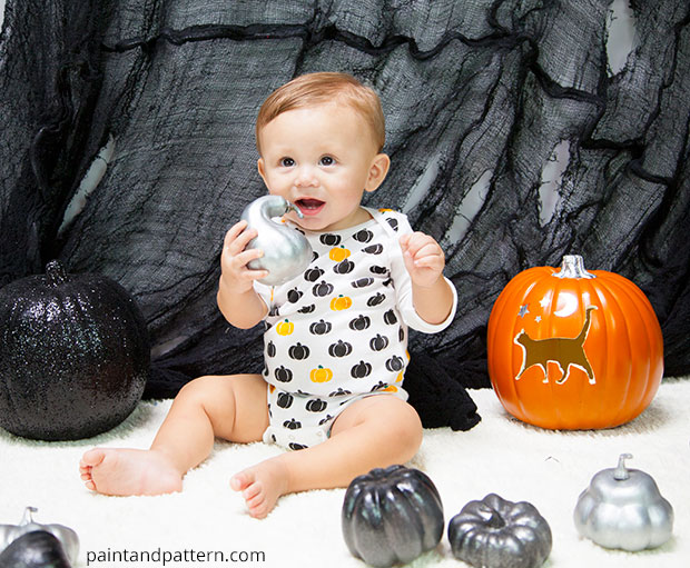 pumpkin stencils for a onesies