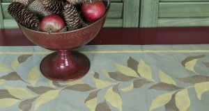 Fall DIY: Stencil an Elegant Fall Table Runner