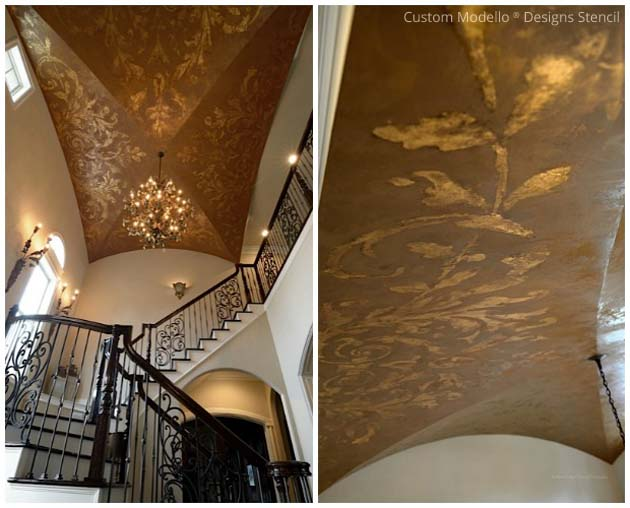 Ceiling Modello® Designs Vinyl Stencil via Tiffany Alexander | Paint + Pattern