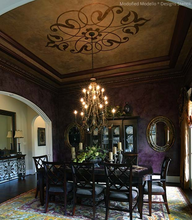 The Gorgeous Stenciling Style Of Tiffany Alexander Paint - ceiling stencils for walls designs