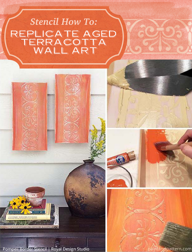 Stencil How to: Replicate Aged Terracotta Wall Art | Paint + Pattern