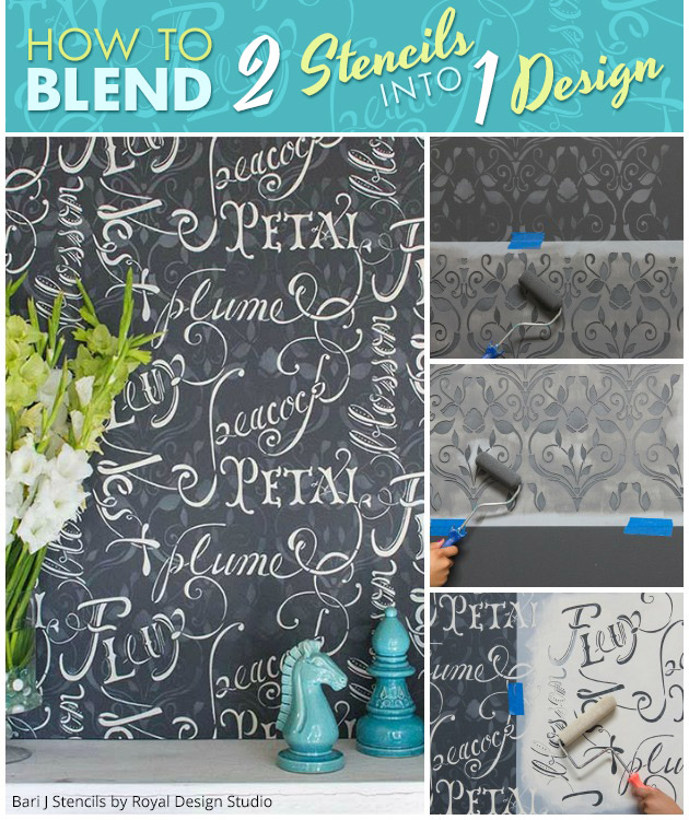 How to Blend 2 Stencils into 1 Design | Paint + Pattern