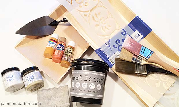 Stencil Supplies for Wall Art with Terra Cotta Look | Paint + Pattern