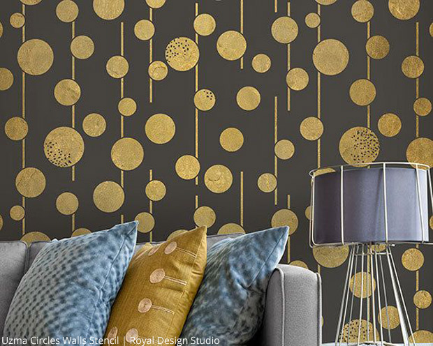 Uzma Circles Wall Stencil by Royal Design Studio | Paint + Pattern