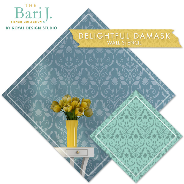 Bari J Delightful Damask Stencil by Royal Design Studio