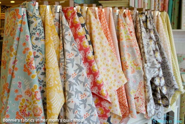 Bonnie's Fabrics in Her Mom's Quilt Shop | Paint + Pattern