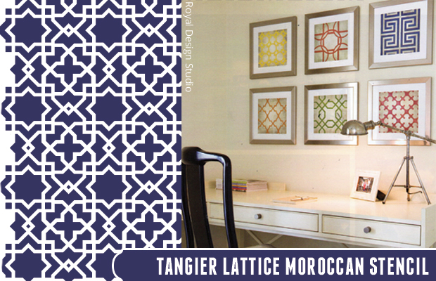 Get the look with Tangier Lattice Moroccan Stencil by Royal Design Studio | Paint + Pattern