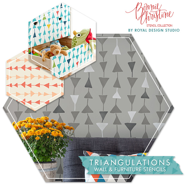 Triangulations Wall Stencil by Royal Design Studio | Paint + Pattern