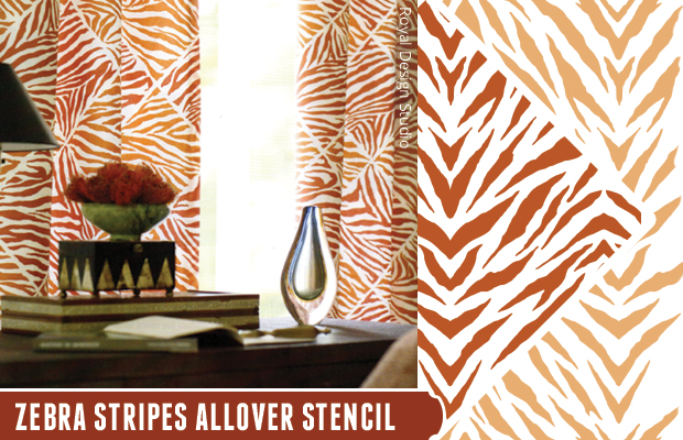 Get the look with Zebra Stripes Allover Stencil by Royal Design Studio | Paint + Pattern