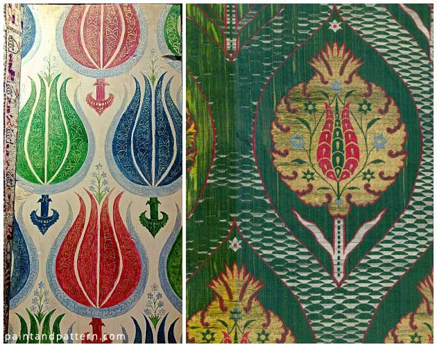 Tulip Pattern on 17th Century Kemha | Paint + Pattern