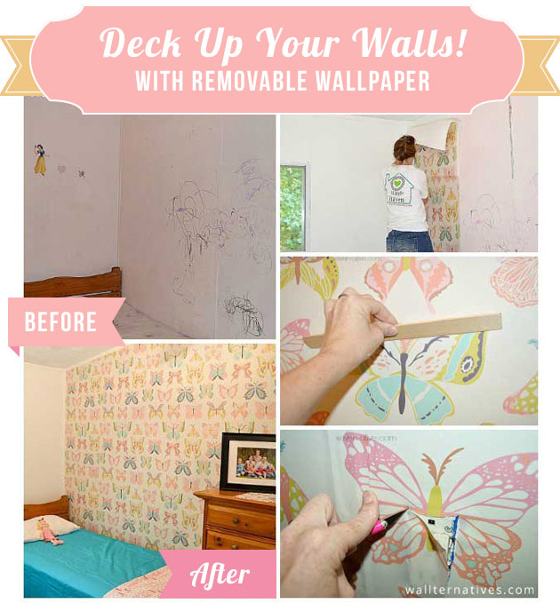 Deck up your walls with Removable Wallpaper by Wallternatives  | Paint + Pattern