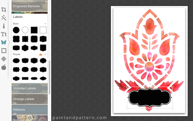 Bookplates DIY using Amisha Motif Stencil by Royal Design Studio | Paint + Pattern
