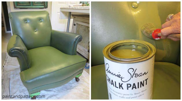 Painting a Club Chair from Drab to Fab | Paint + Pattern