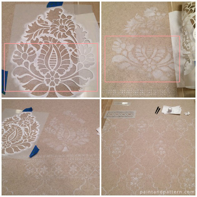 Large Rani Paisley Damask Stencil by Royal Design Studio | Paint + Pattern