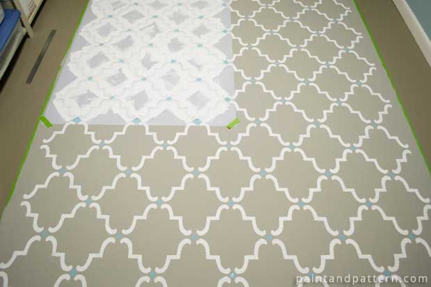 Stenciling the Floor | Moorish Trellis Stencil by Royal Design Studio