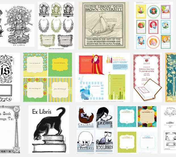 Sample Bookplates from Google | Paint + Pattern
