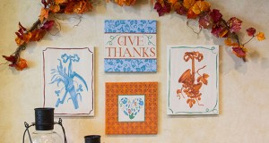 Thanksgiving DIY: Stencil a Fall Gallery Wall