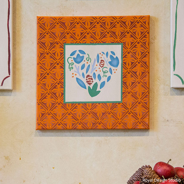 Thanksgiving Wall Art DIY | Tulip Tile Stencil by Royal Design Studio