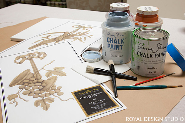 Stencil Supplies for Thanksgiving Wall Art DIY | Paint + Pattern