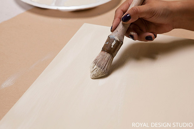 Prepping the Canvas for Thanksgiving Wall Art DIY | Paint + Pattern