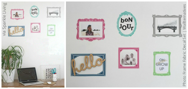 Multicolored Removable Fabric Decal Frames | Wallterantives