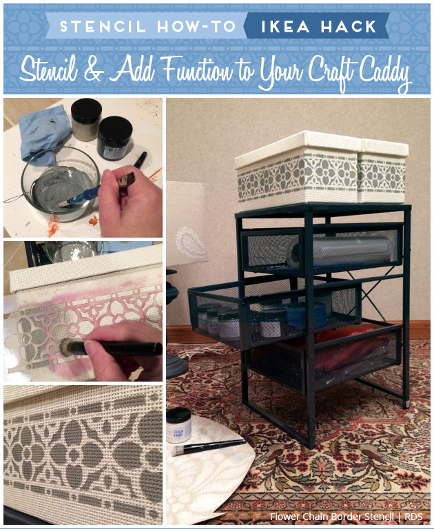 IKEA HACK - Stencil a Craft Caddy