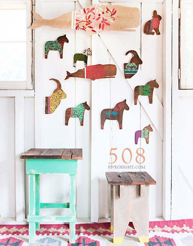 Painted and Stenciled Animal Silhouettes | Paint + Pattern