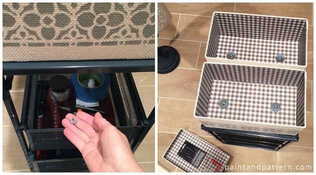 Stencil How-to: Make a Functional Craft Caddy from Ikea Hack | Paint + Pattern