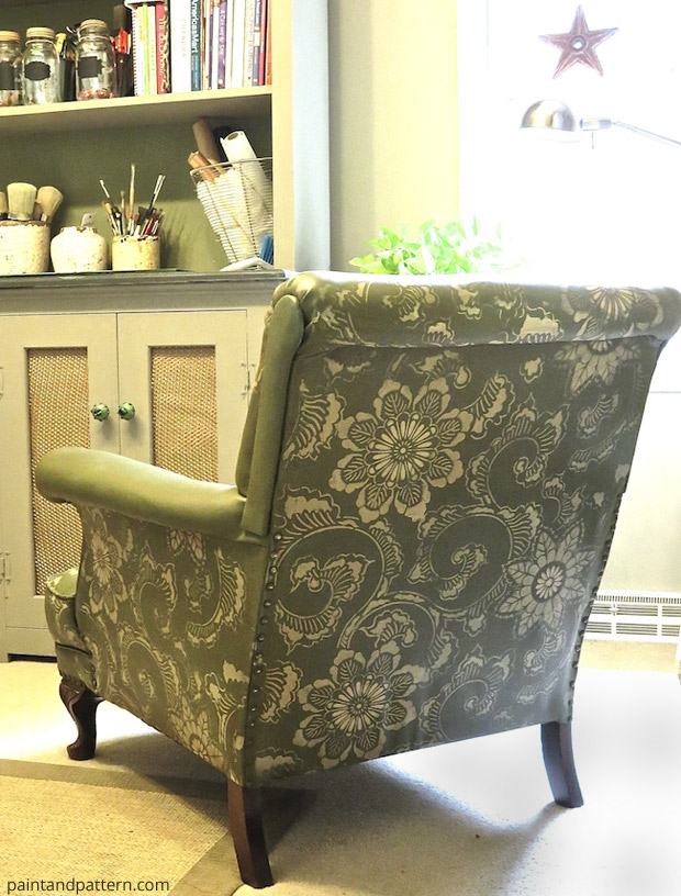 Stencil DIY: Club chair goes from drab to fab | Paint + Pattern