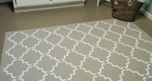 How to Create Designer Flooring with Stencils