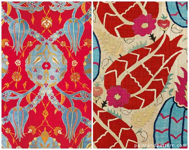 Caftans with Tulip motif | Paint + Pattern