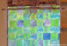 Stencil DIY: Weave a Customized Paper Artwork