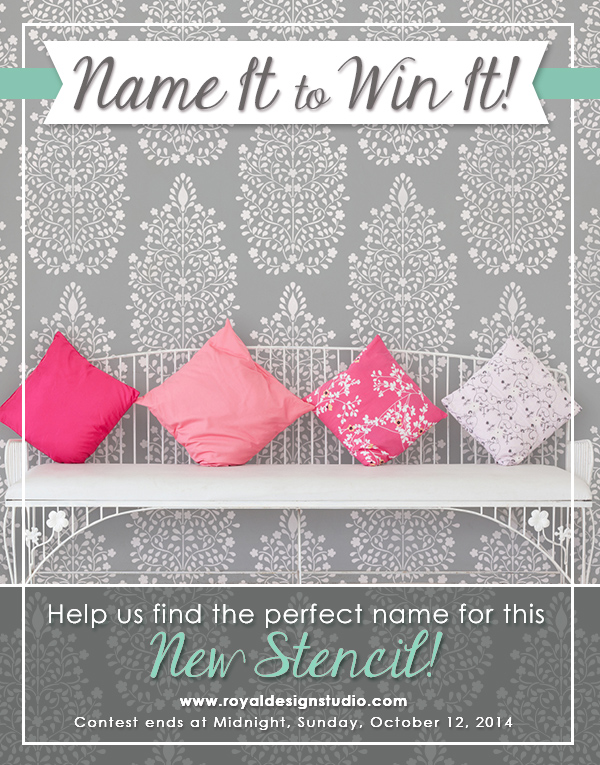 Name it to Win it Stencil from Royal Design Studio