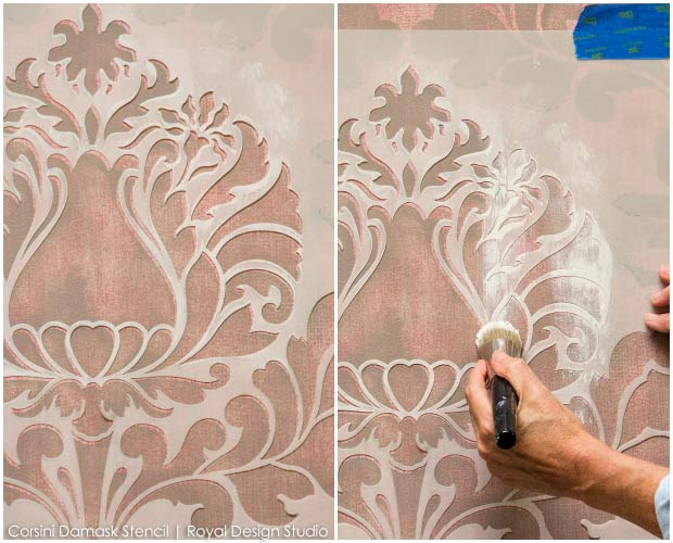 How to Stencil Stenciling a Textured Fabric Wall Finish Paint