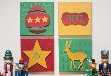 Stencil How To: 3D Christmas Canvas Wall Art That Really Pops
