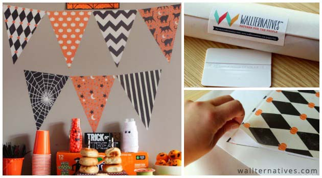 Wicked Halloween Party Decor with Bunting Flags by Wallternatives