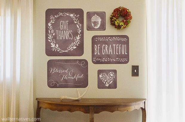 Black and White Fall Phrases Removable Wall Decals via Don't Disturb this Groove