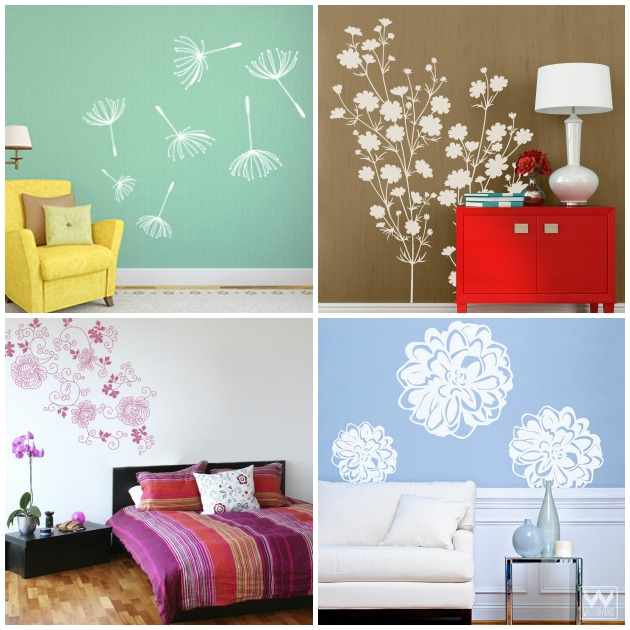 Blossoming Floral Wall Decal Décor Ideas | Paint + Pattern