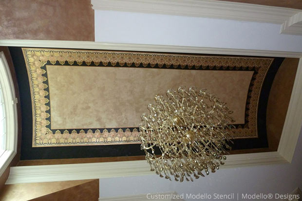 Customized Modello® Stencil for Barrel Ceiling | Modello® Designs