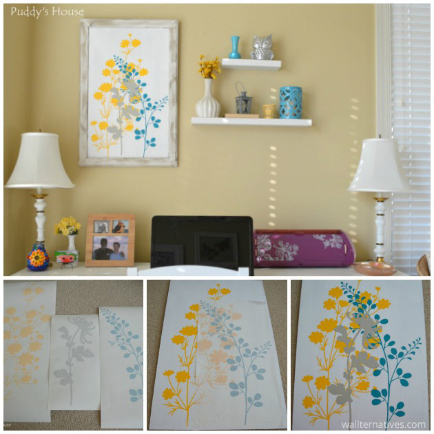 Canvas Art via Paddy's House | Just Floral You Vinyl Wall Decal Set by Wallternatives