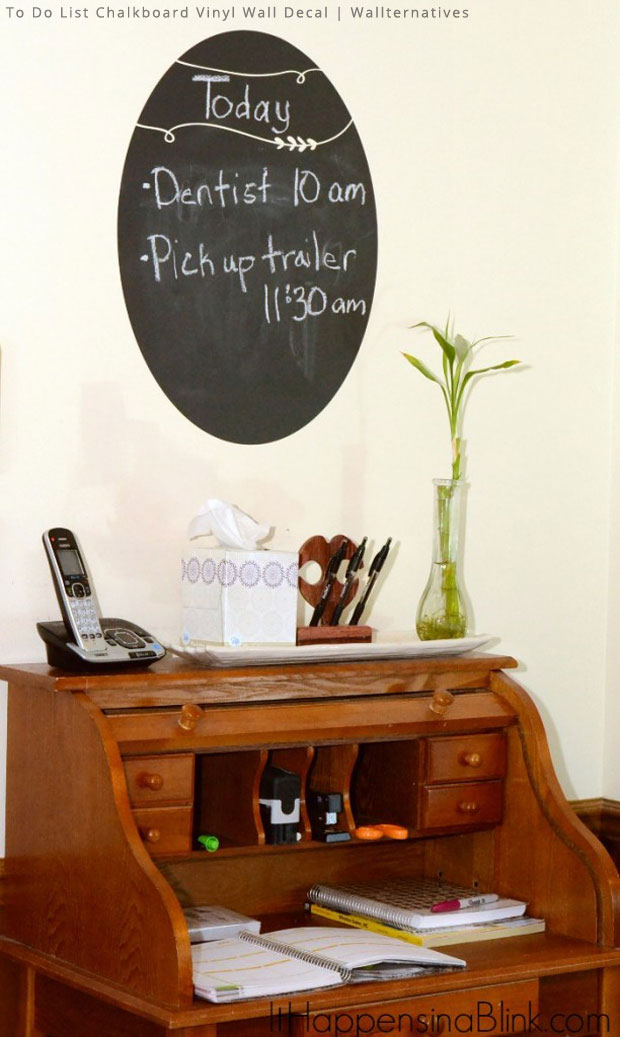 Keep Family Updated with Chalkboard Wall Decals by Wallternatives