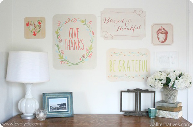 Colorful Fall Phrases Removable Wall Decals via Lovely Etc. | Wallternatives