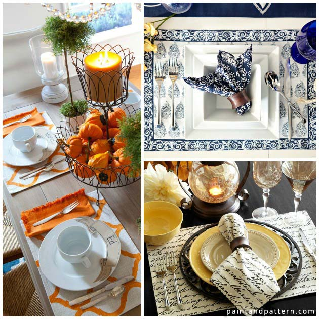 Stencil Gorgeous Placemats for Thanksgiving | Paint + Pattern