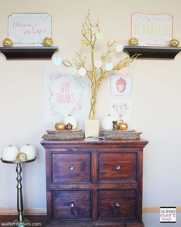 Colorful Fall Phrases Removable Wall Decals via Soiree Event Design | Wallternatives