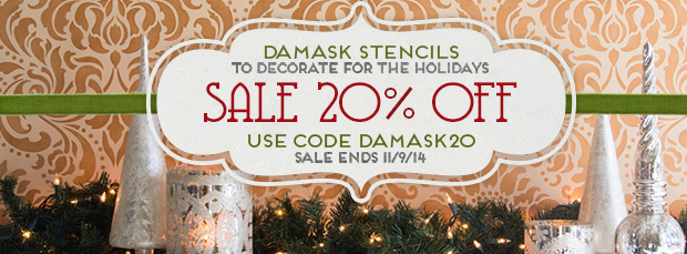 Damask Stencil Sale | Royal Design Studio