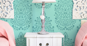 Stencil Spotlight: Damask Patterns Make Delicious Wall Stencils