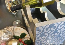 A Perfect Christmas Gift: Stenciled Wine Rack