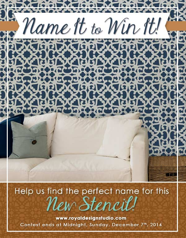 New Moroccan Wall Stencil from Royal Design Studio