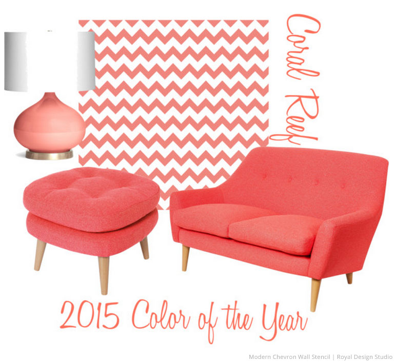 Decorating with the 2015 Color of the Year and Stencils!