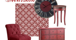 Decorating with 2015 Color of the Year and Stencils!